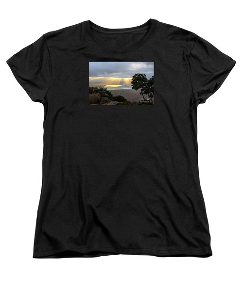 Women's T-Shirt (Standard Cut) featuring the photograph Sun Rays by Pravine Chester