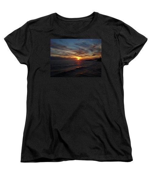 Women's T-Shirt (Standard Cut) featuring the photograph Sun Up by Bonfire Photography
