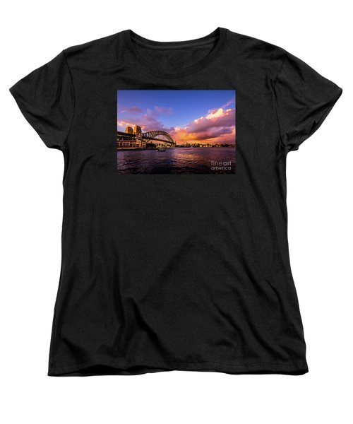 Women's T-Shirt (Standard Cut) featuring the photograph Sun Up by Perry Webster