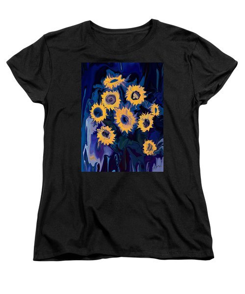 Sunflower 1 Women's T-Shirt (Standard Cut) by Rabi Khan