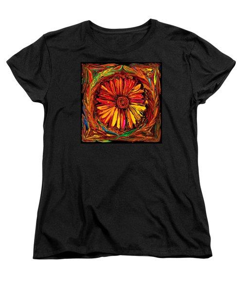 Sunflower Emblem Women's T-Shirt (Standard Cut) by Rabi Khan