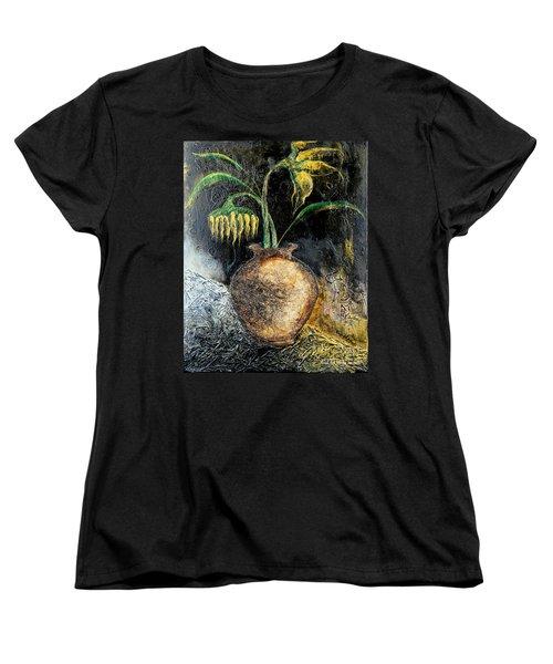 Sunflower Women's T-Shirt (Standard Cut) by Farzali Babekhan