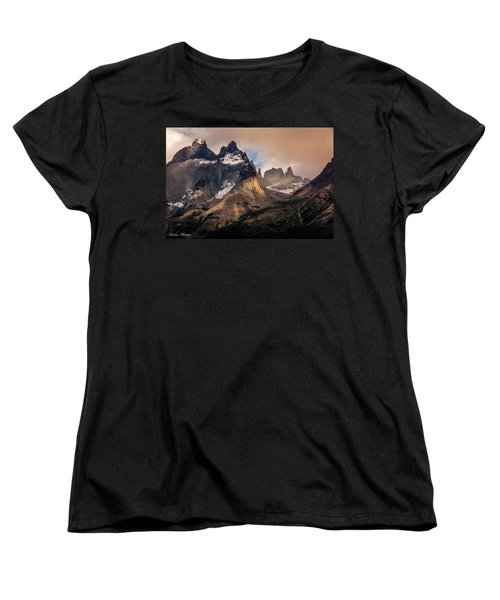Women's T-Shirt (Standard Cut) featuring the photograph Sunlight On The Mountain by Andrew Matwijec