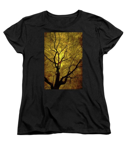 Women's T-Shirt (Standard Cut) featuring the painting Sunny Branches by Gray  Artus