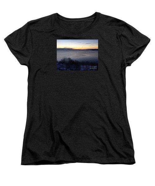 Sunrise Casco Bay January 21, 2016  Women's T-Shirt (Standard Cut) by Patricia E Sundik