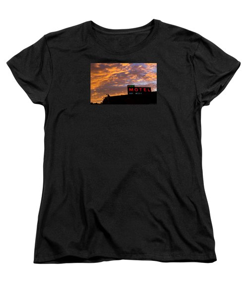 Women's T-Shirt (Standard Cut) featuring the photograph Sunrise Enters Capitola by Lora Lee Chapman