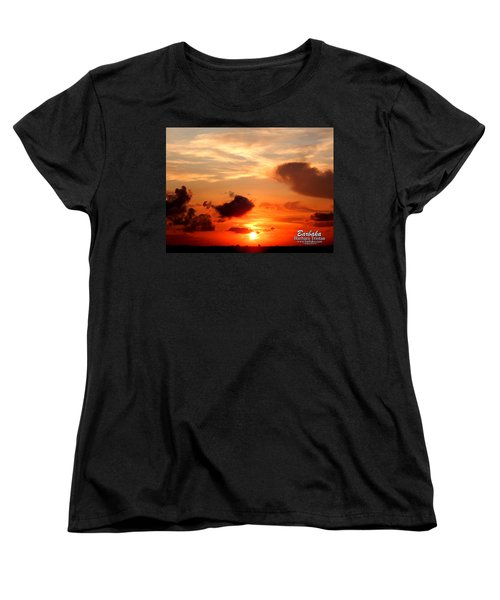 Women's T-Shirt (Standard Cut) featuring the photograph Sunrise In Ammannsville Texas by Barbara Tristan