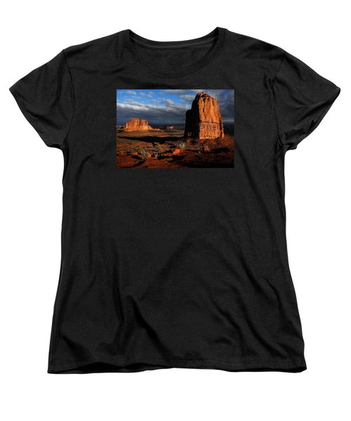 Sunrise La Sal Mountains Women's T-Shirt (Standard Cut) by Harry Spitz