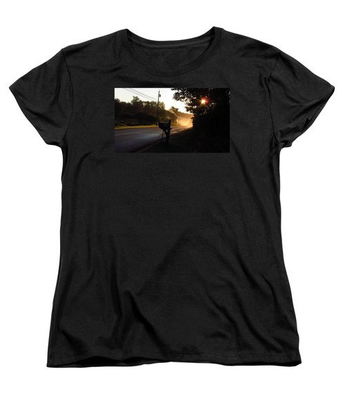Sunrise On A Country Road Women's T-Shirt (Standard Cut)