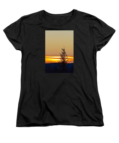 Women's T-Shirt (Standard Cut) featuring the photograph Sunrise On A Sunday Morning by Dacia Doroff