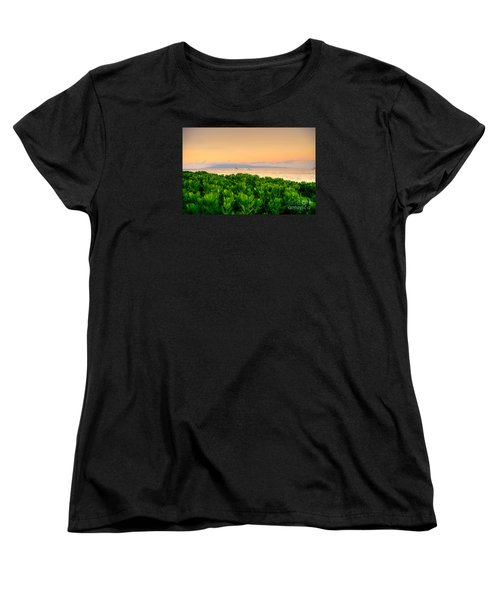 Women's T-Shirt (Standard Cut) featuring the photograph Sunrise On Maui by Kelly Wade