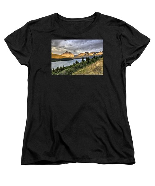 Sunrise On The Bitterroot River Women's T-Shirt (Standard Cut) by Alan Toepfer