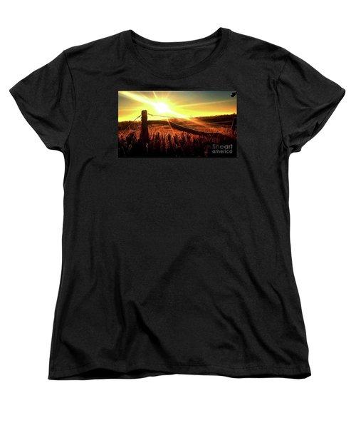 Sunrise On The Wire Women's T-Shirt (Standard Cut) by J L Zarek