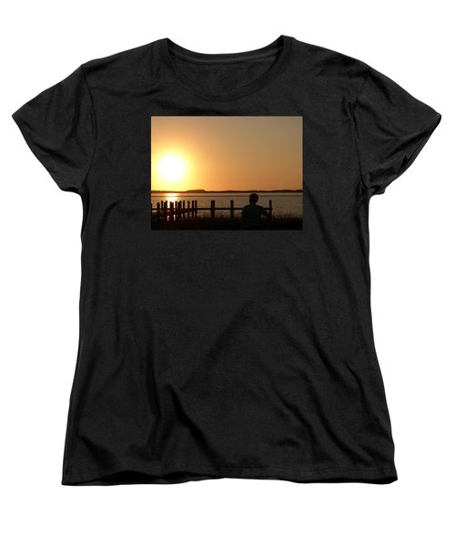 Sunrise Over Assateaque Women's T-Shirt (Standard Cut) by Donald C Morgan