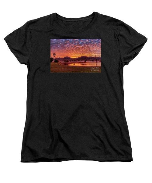 Women's T-Shirt (Standard Cut) featuring the photograph Sunrise Over Gila Mountain Range by Robert Bales