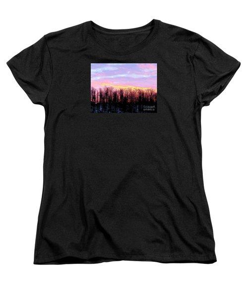 Sunrise Over Lake Women's T-Shirt (Standard Cut) by Craig Walters