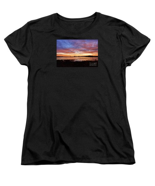 Women's T-Shirt (Standard Cut) featuring the photograph Sunrise Over The Marsh by Larry Ricker