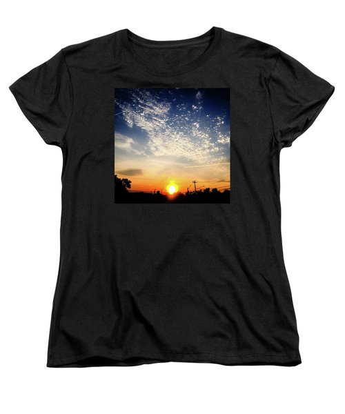 Women's T-Shirt (Standard Cut) featuring the photograph Sunset 25 May 16 by Toni Martsoukos
