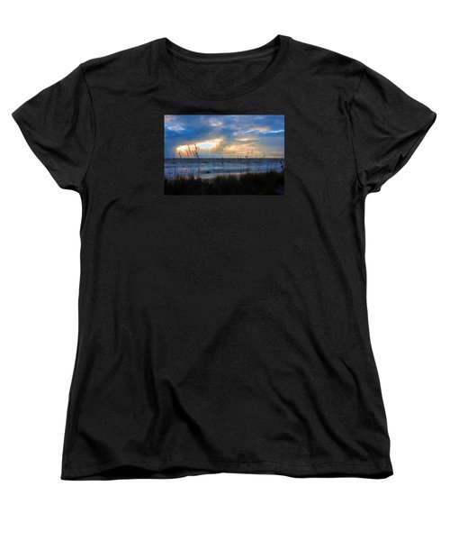 Women's T-Shirt (Standard Cut) featuring the photograph Sunset At Delnor Wiggins Pass State Park by Robb Stan