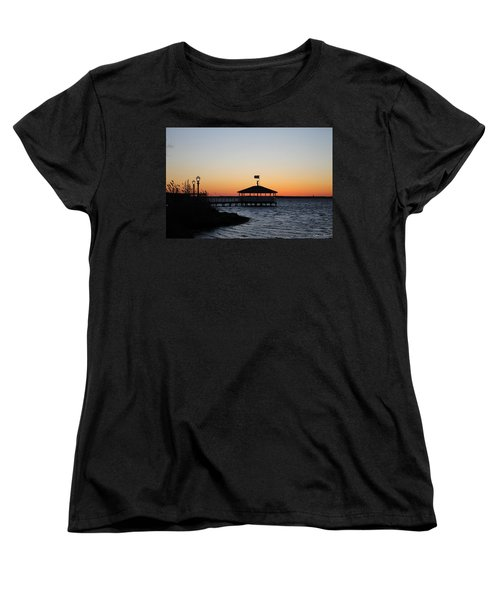 Sunset At Fagers Island Gazebo Women's T-Shirt (Standard Cut)