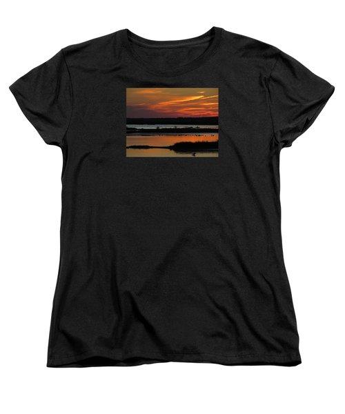 Sunset At Forsythe Reserve 2 Women's T-Shirt (Standard Cut) by Melinda Saminski