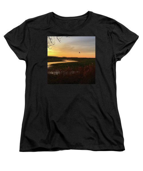 Sunset At Holkham Today  #landscape Women's T-Shirt (Standard Cut) by John Edwards