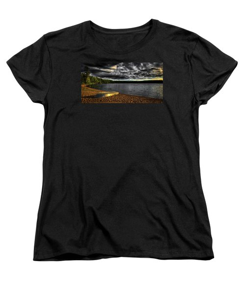 Sunset At Nicks Lake Women's T-Shirt (Standard Cut) by David Patterson