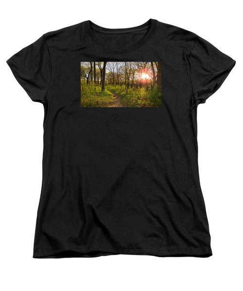 Women's T-Shirt (Standard Cut) featuring the photograph Sunset At Scuppernong by Kimberly Mackowski