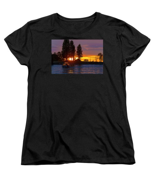 Sunset At Sunset Beach In Vancouver Bc Women's T-Shirt (Standard Fit)