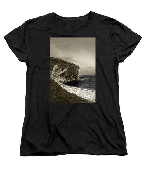 Sunset Cliff Women's T-Shirt (Standard Cut) by Sebastian Mathews Szewczyk