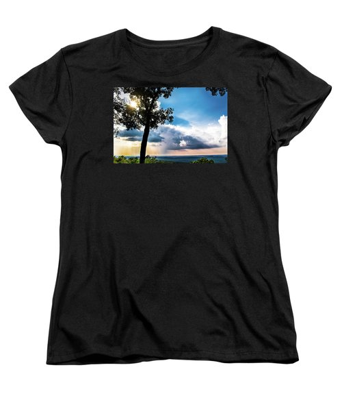 Women's T-Shirt (Standard Cut) featuring the photograph Sunset Explosion by Shelby Young