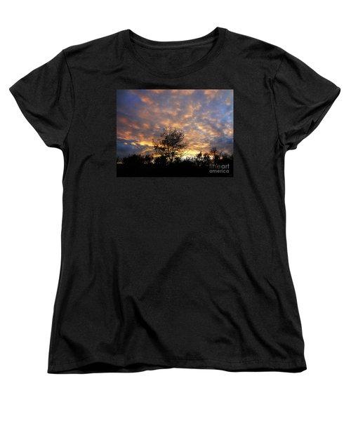 Sunset Glow Women's T-Shirt (Standard Cut) by Gem S Visionary
