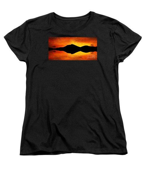 Women's T-Shirt (Standard Cut) featuring the digital art Sunset Island by Ian Mitchell