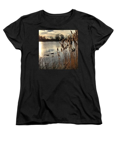 Sunset Lake  Women's T-Shirt (Standard Cut) by Kathy Spall