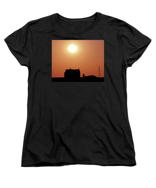 Women's T-Shirt (Standard Cut) featuring the photograph Sunset Lonely by Christopher McKenzie