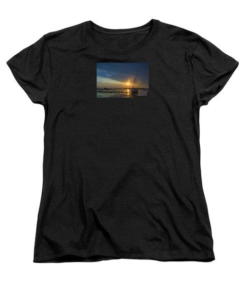 Sunset On Cape Cod Women's T-Shirt (Standard Cut) by Diane Diederich