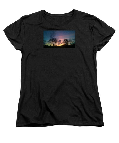Sunset On Hunton Lane #12 Women's T-Shirt (Standard Cut) by Carlee Ojeda