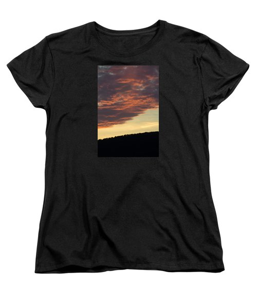 Sunset On Hunton Lane #8 Women's T-Shirt (Standard Cut) by Carlee Ojeda