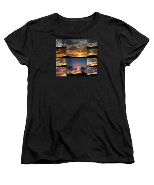 Sunset On Hunton Lane Women's T-Shirt (Standard Cut) by Carlee Ojeda