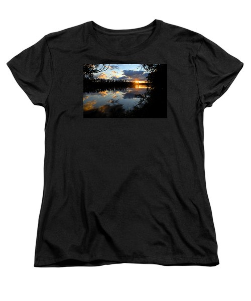 Sunset On Polly Lake Women's T-Shirt (Standard Cut) by Larry Ricker