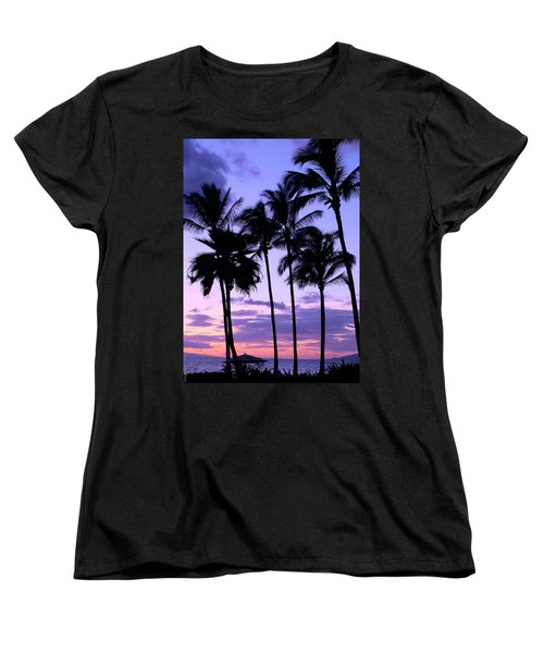 Women's T-Shirt (Standard Cut) featuring the photograph Sunset On The Palms by Debbie Karnes