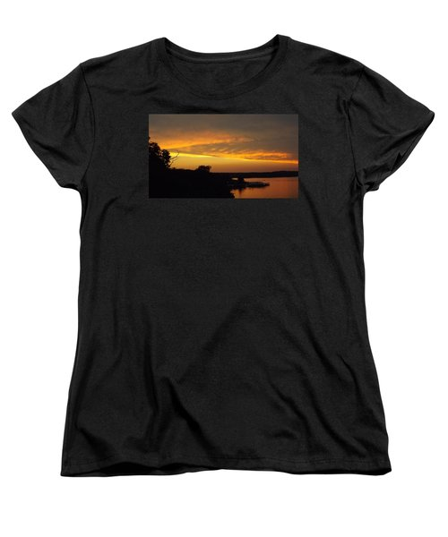 Sunset On The Shore  Women's T-Shirt (Standard Cut) by Don Koester