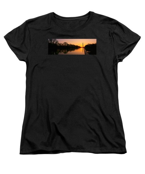 Sunset On The Washington Monument & Women's T-Shirt (Standard Cut) by Panoramic Images