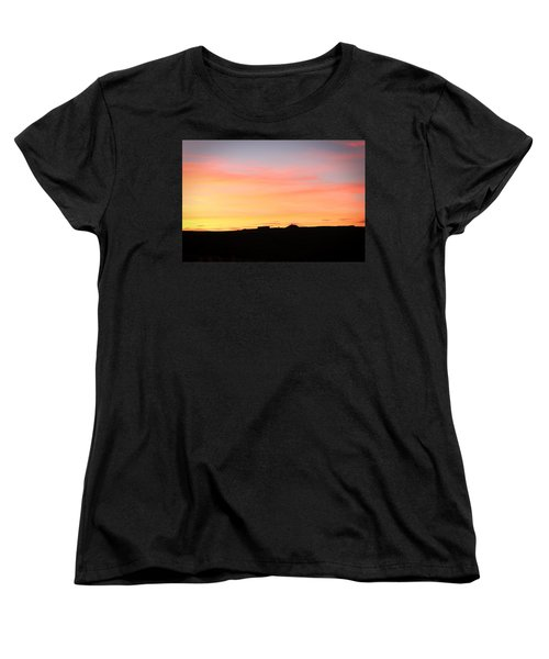 Sunset Over Cairnpapple Women's T-Shirt (Standard Cut) by RKAB Works