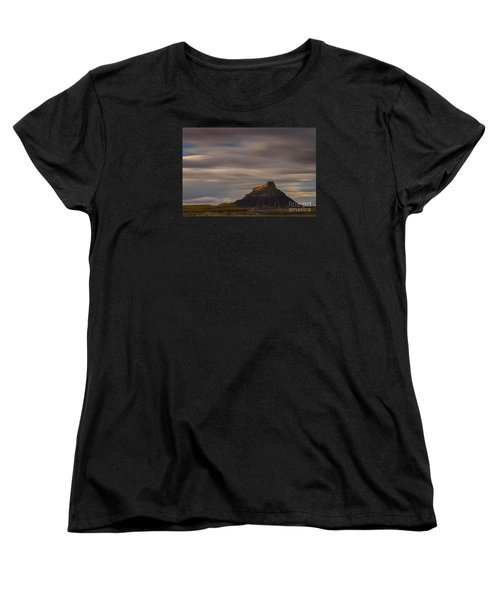 Women's T-Shirt (Standard Cut) featuring the photograph Sunset Over Factory Butte by Keith Kapple