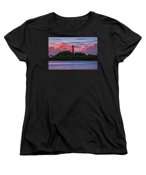 Sunset Over Jupiter Lighthouse, Florida Women's T-Shirt (Standard Cut) by Justin Kelefas