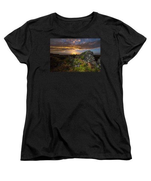Sunset Over Marsh Women's T-Shirt (Standard Cut) by Joe Belanger