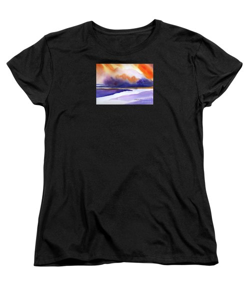 Sunset Over Marsh Women's T-Shirt (Standard Cut) by Yolanda Koh