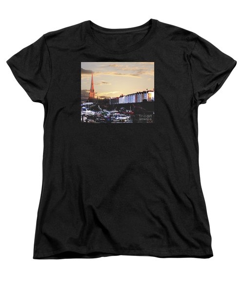 Women's T-Shirt (Standard Cut) featuring the photograph Sunset Over St Mary Redcliffe Bristol by Terri Waters