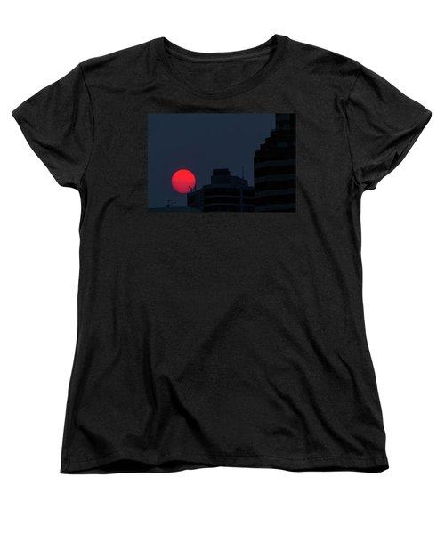 Sunset Over The City Of Portland Oregon Women's T-Shirt (Standard Fit)